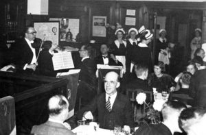 The Orchestra at Burgis & Colbourne's restaurant 1938, photo Derek Billings and David Budd