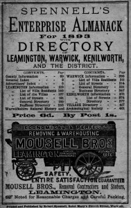 Mousell Bros Ad in Spennell's Directory, 1893