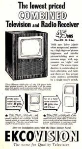 EKCO advertisement 1949