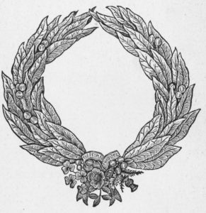 "Engraving of the gold wreath commissioned by Turnerelli as a""People's Tribute"" to Disraeli"