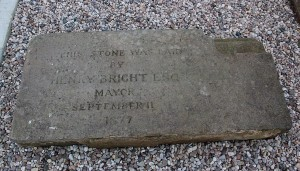 Foundation Stone, Campion Terrace Waterworks. ©