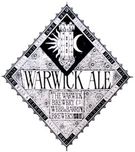 Bottle Label, circa 1867, Depicting Guy's Tower, Warwick Castle ['Warwickshire Breweries' - Joseph McKenna]