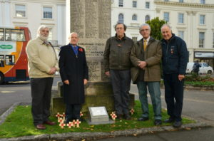 left to right, Alan Griffin, John Evetts, Barry Franklin, Richard King and Allan Jennings